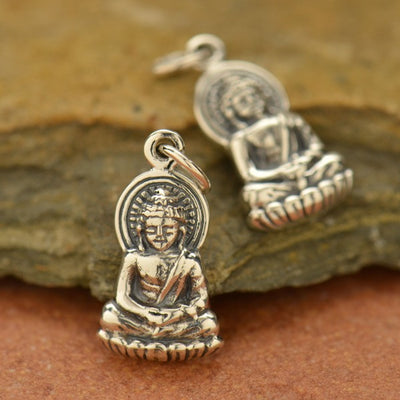 Sterling Silver Buddha Charm - Poppies Beads n' More