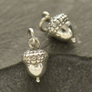 Sterling Silver Acorn Charm - Poppies Beads n' More