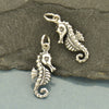 Sterling Silver Seahorse Charm - Poppies Beads n' More