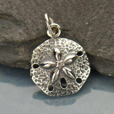 Sterling Silver Sand Dollar Charm - Poppies Beads n' More
