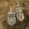 Sterling Silver Owl Charm - Poppies Beads n' More