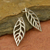 Sterling Silver Leaf Charm - Poppies Beads n' More