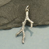 Sterling Silver Coral Branch Charm - Poppies Beads n' More