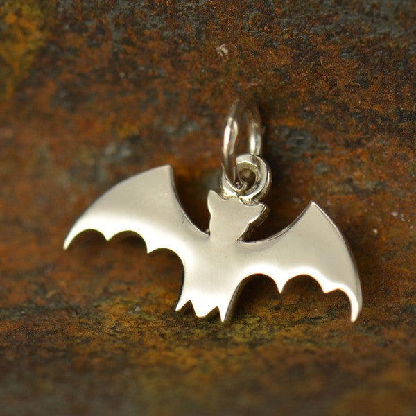 Sterling Silver Bat Charm - Poppies Beads n' More