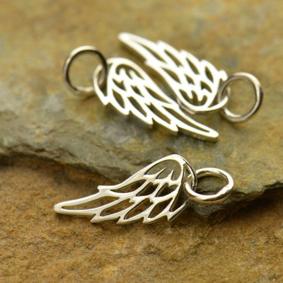 Sterling Silver Angel or Bird Wing Pendant - Poppies Beads n' More