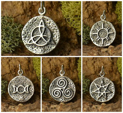 Sterling Silver Amulet Charms - Poppies Beads n' More