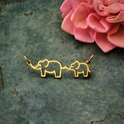 Mama and Baby Elephant Festoon - Poppies Beads n' More