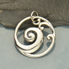 Sterling Silver Openwork Wave Pendant - Poppies Beads n' More
