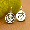 Sterling Silver Etched Root Chakra Charm - Poppies Beads n' More