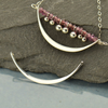 Sterling Silver Crescent Link with Two Holes - Poppies Beads n' More