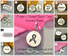 Breast Cancer Awareness Charms - Poppies Beads n' More