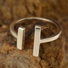 Adjustable Parallel Bars Ring - Poppies Beads n' More