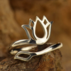 Adjustable Ring with Lotus Design - Poppies Beads n' More