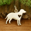 Sterling Silver Silhouetted Labrador Retriever Charm - Poppies Beads n' More
