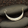 Sterling Silver Hammered Crescent Festoon - Poppies Beads n' More