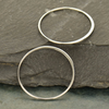 Sterling Silver 2X Large Circle Link - Poppies Beads n' More