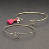 Sterling Silver Heart Hook and Eye Bangle - Poppies Beads n' More