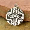Sterling Silver Labyrinth Pendant - Poppies Beads n' More