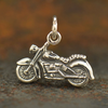 Sterling Silver Motorcycle Charm - Poppies Beads n' More