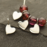 Sterling Silver Tiny Heart Dangle - Poppies Beads n' More