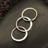 Sterling Silver Circle Link Chain Segment - Poppies Beads n' More