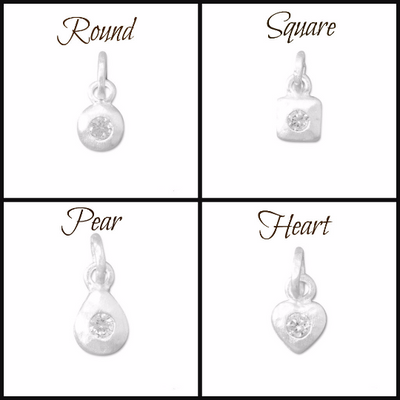 Sterling Silver Matte CZ Charms - Poppies Beads n' More