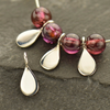 Sterling Silver Tiny Teardrop Dangle - Poppies Beads n' More