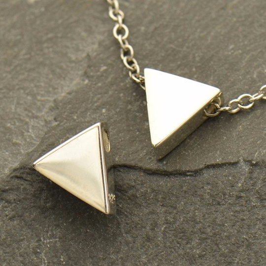 Sterling Silver Triangle Bead - Poppies Beads n' More