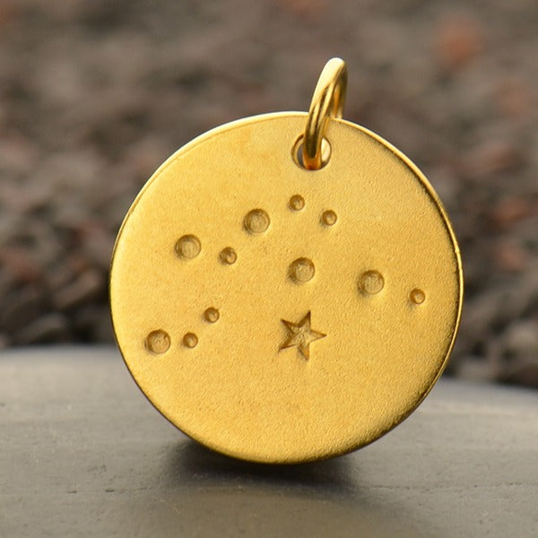 Zodiac Constellation Discs, - Poppies Beads n' More