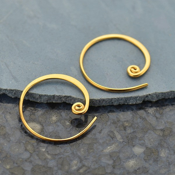 Curled Hoop Earring Findings - Poppies Beads n' More