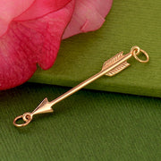 Arrow Pendant with 18K Rose Gold Plate - Poppies Beads n' More