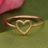 Rose Gold Ring - Heart Ring in 18K Rose Gold Plate - Poppies Beads n' More