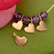 Tiny Heart Dangle Charm, - Poppies Beads n' More