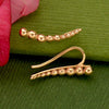Rose Gold Ear Climbers - Granulation Pattern Rose Gold Plate - Poppies Beads n' More