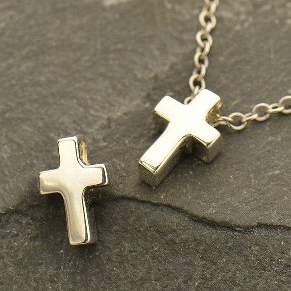 Sterling Silver Cross Bead - Poppies Beads n' More
