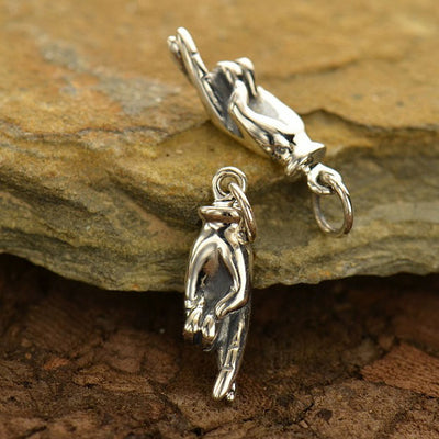 Sterling Silver Fingers Crossed Charm - Poppies Beads n' More