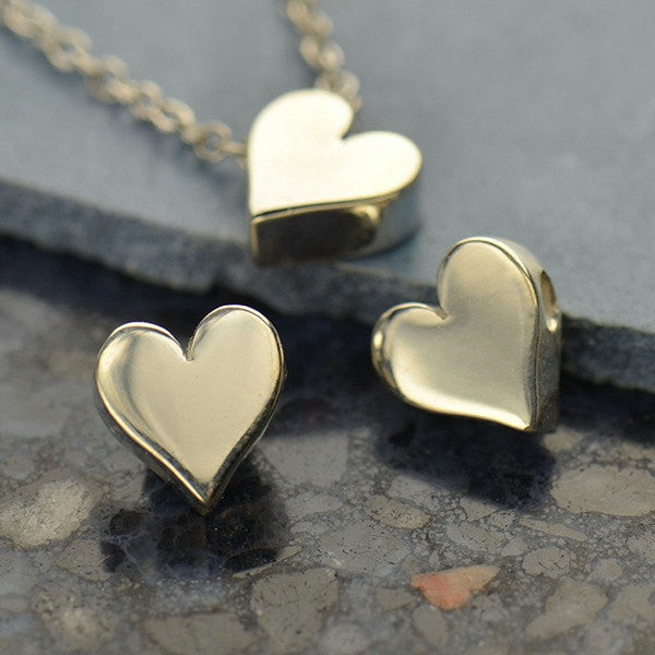 Sterling Silver Heart Bead - Poppies Beads n' More