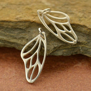 Sterling Silver Butterfly Wing Charm - Poppies Beads n' More