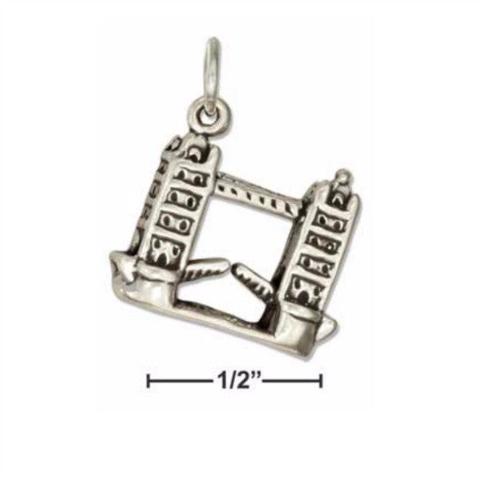 Sterling Silver 3D London Bridge Charm - Poppies Beads n' More