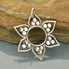 Sterling Silver Lotus Pendant with Flat Granulation - Poppies Beads n' More