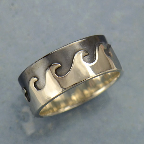 Sterling Silver Chunky Wave Ring - Poppies Beads n' More
