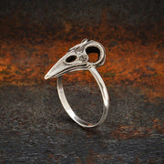 Sterling Silver Raven Skull Ring - Poppies Beads n' More