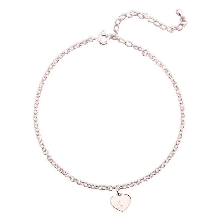 Initial Heart Anklet