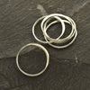 Medium Half Hammered Circle Silver Link,