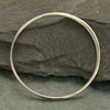 3X Large Half Hammered Circle Silver Link,