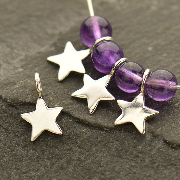 Sterling Silver Tiny Star Dangle - Poppies Beads n' More