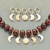 Sterling Silver Moon Phase Charm Set - 5 Moon Charms - Poppies Beads n' More