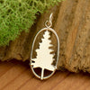 Sterling Silver Pine Tree Charm - Poppies Beads n' More