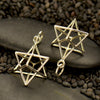 Sterling Silver Sacred Geometry Charm - Wire Merkaba Pendant - Poppies Beads n' More