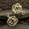 Silver Sacred Geometry Charm - Wire Icosahedron Pendant - Poppies Beads n' More